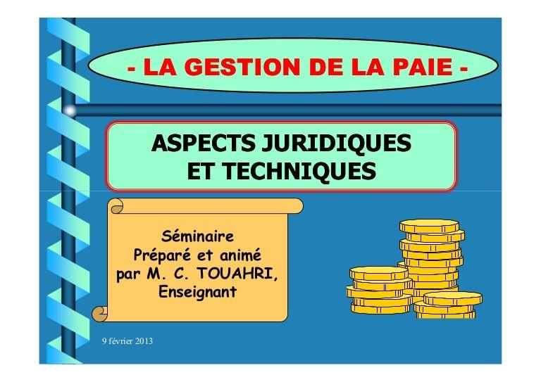Gestion De La Paie Lecture Seule Mode De Compatibilite