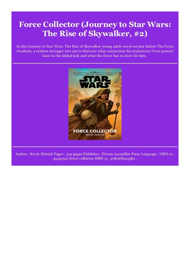 Get Force Collector Journey To Star Wars The Rise Of Skywalker