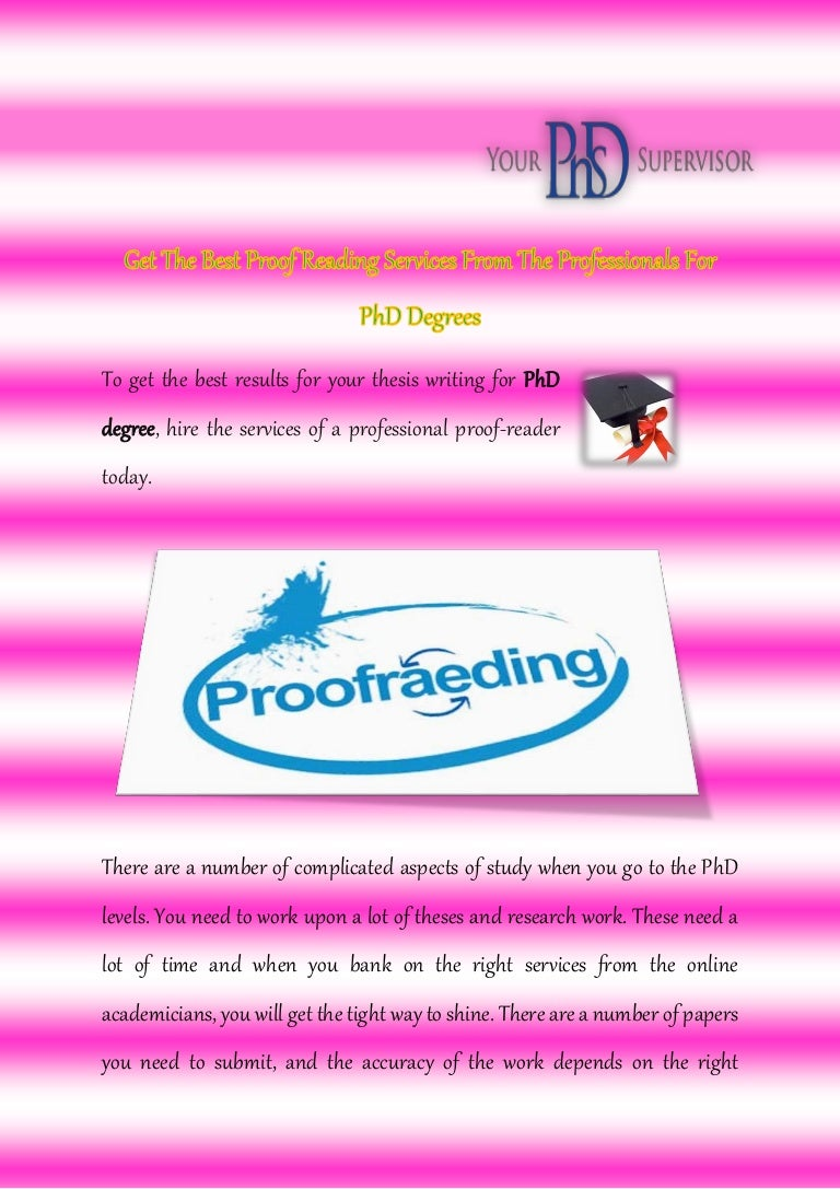 Phd proofreading services