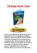 Get 14 days acne cure