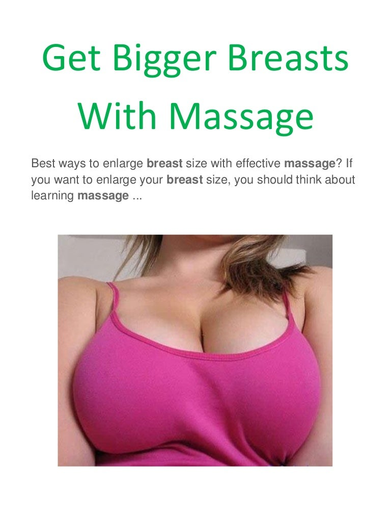 How to massage the boobs