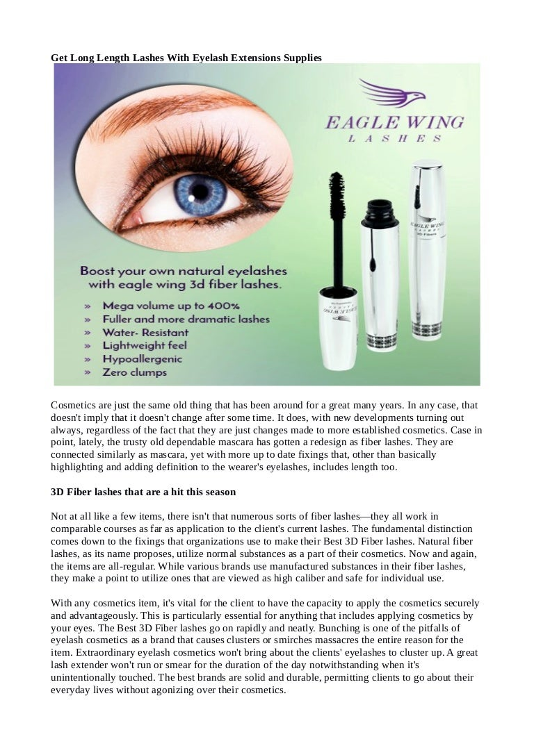 Get Long Length Lashes With Eyelash Extensions Supplies
