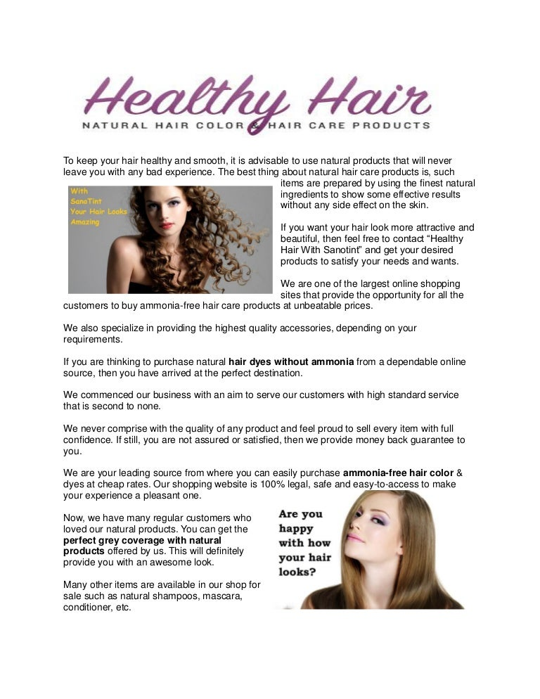 Get Natural Hair Colors And Dyes From A Renowned Online Shop
