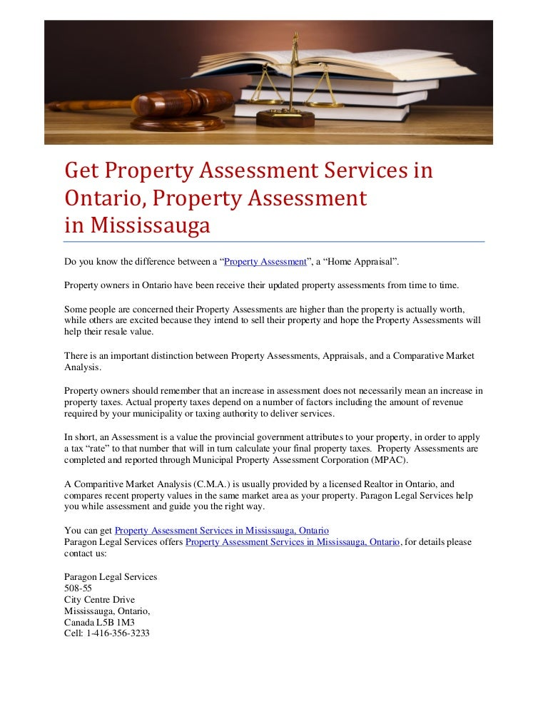 get property assessment services in ontario property assessment in m rh slideshare net