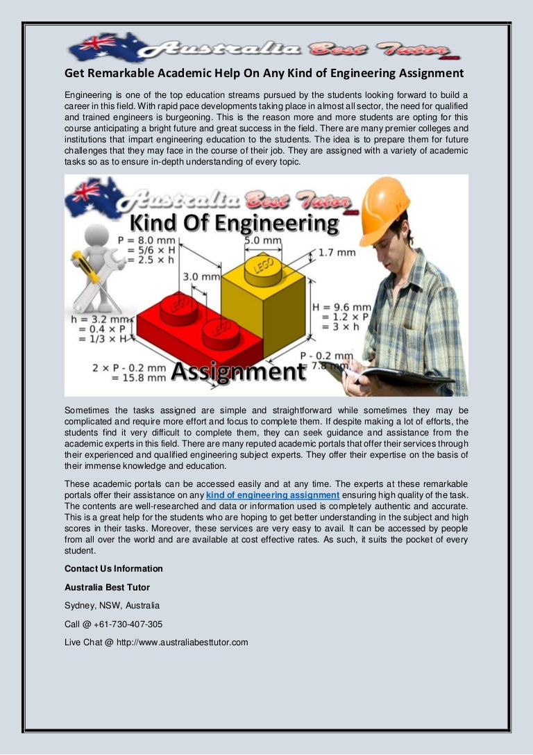 get remarkable academic help on any kind of engineering assignment