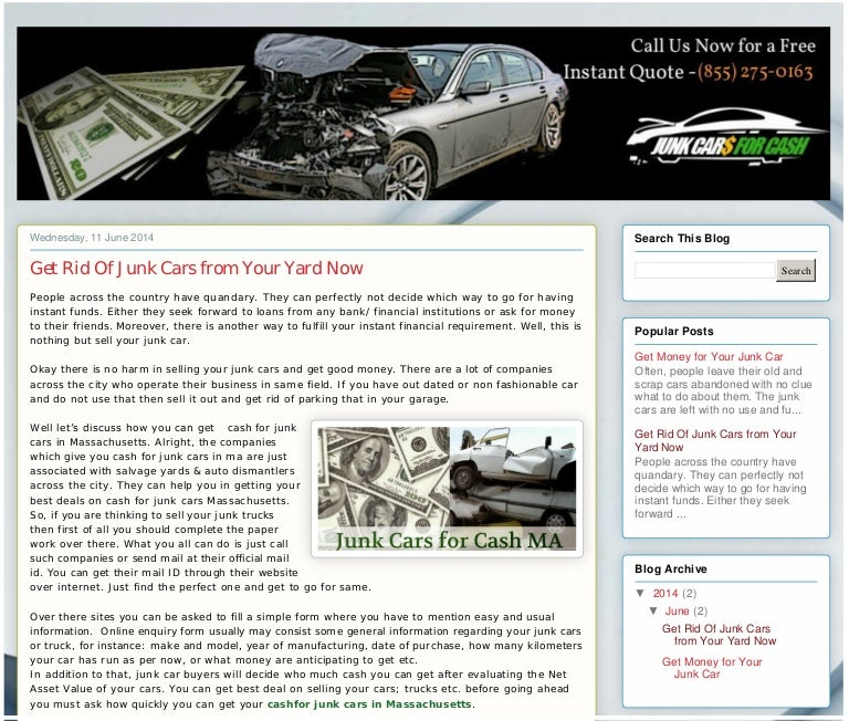 Get Rid Of Junk Cars from Your Yard Now