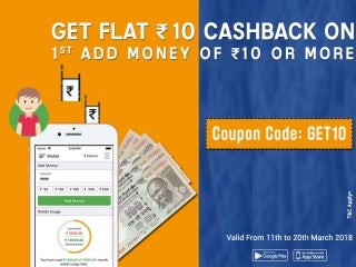 Add Money Rs.10 And Get Rs.10 cashback On Your Cubber Wallet