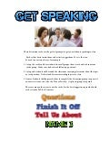 Get Speaking - conversation cards
