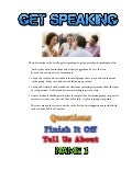 Get speaking conversation cards