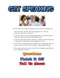 Get speaking conversation cards sample