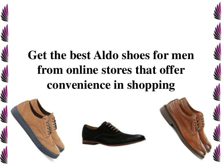 Get the best Aldo shoes for men from