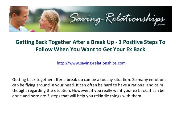 How to save a relationship after a break up