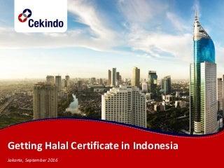 Getting halal certificate in indonesia