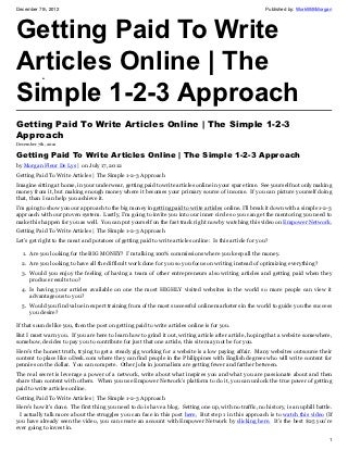 How to write articles online