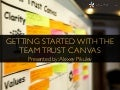 Getting started with the team trust canvas