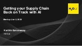 Getting Your Supply Chain Back on Track with AI