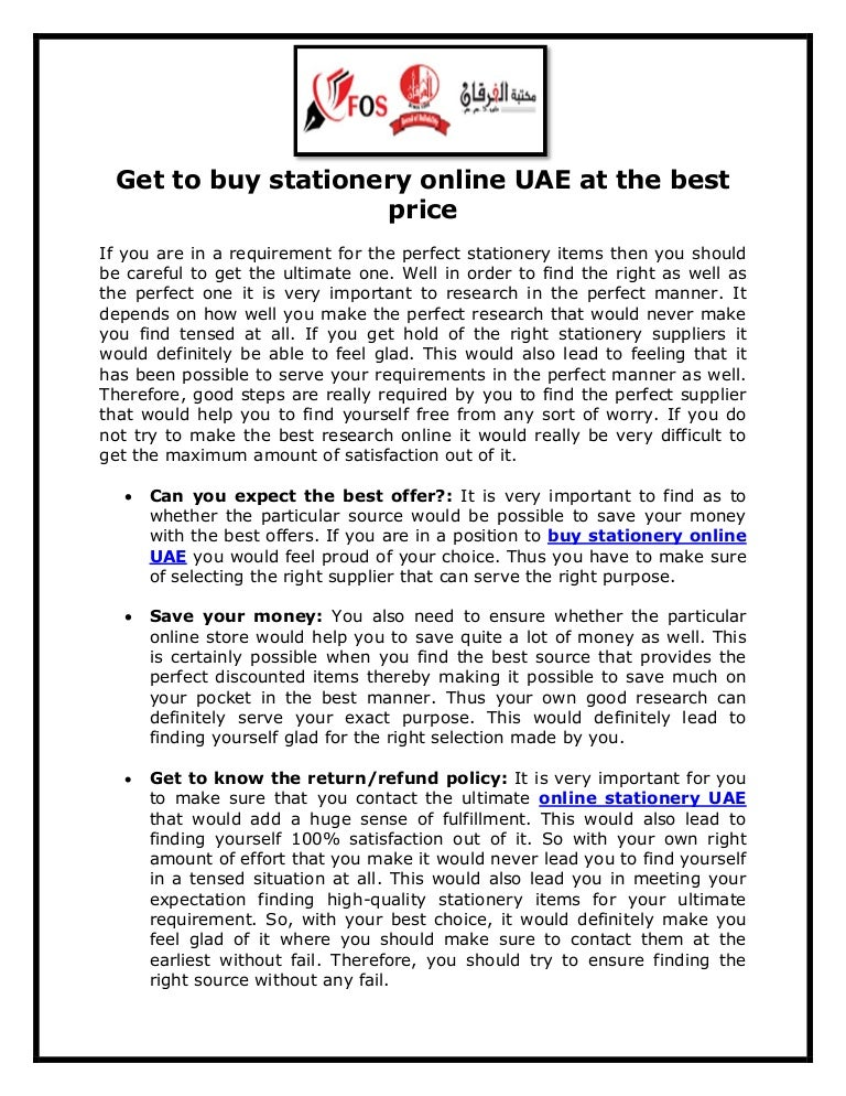 Get to buy stationery online UAE at the best price