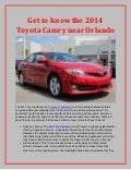 Get to know the 2014 Toyota Camry near Orlando