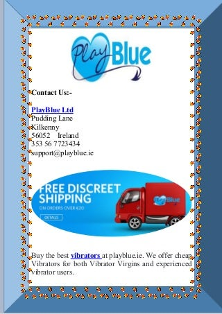 Get Vibrators from Playblue.ie