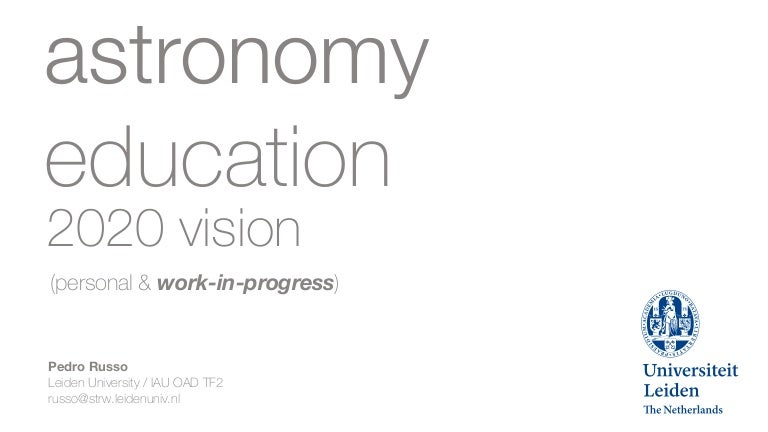 Pedro Russo: Astronomy Education 2020