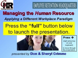 Ghr Sample Presentation - Managing The Human Resource