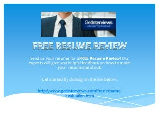 free resume review from getinterviews