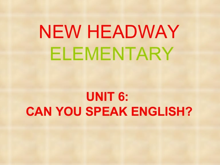 гдз по английскому headway elementary