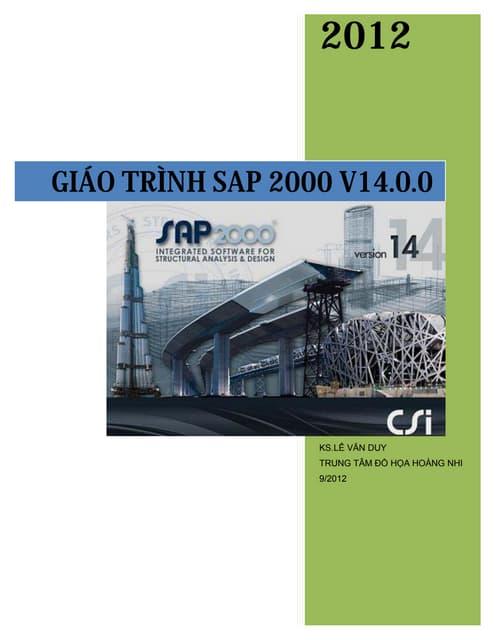GIÁO TRÌNH SAP 2000 VERSION 2014