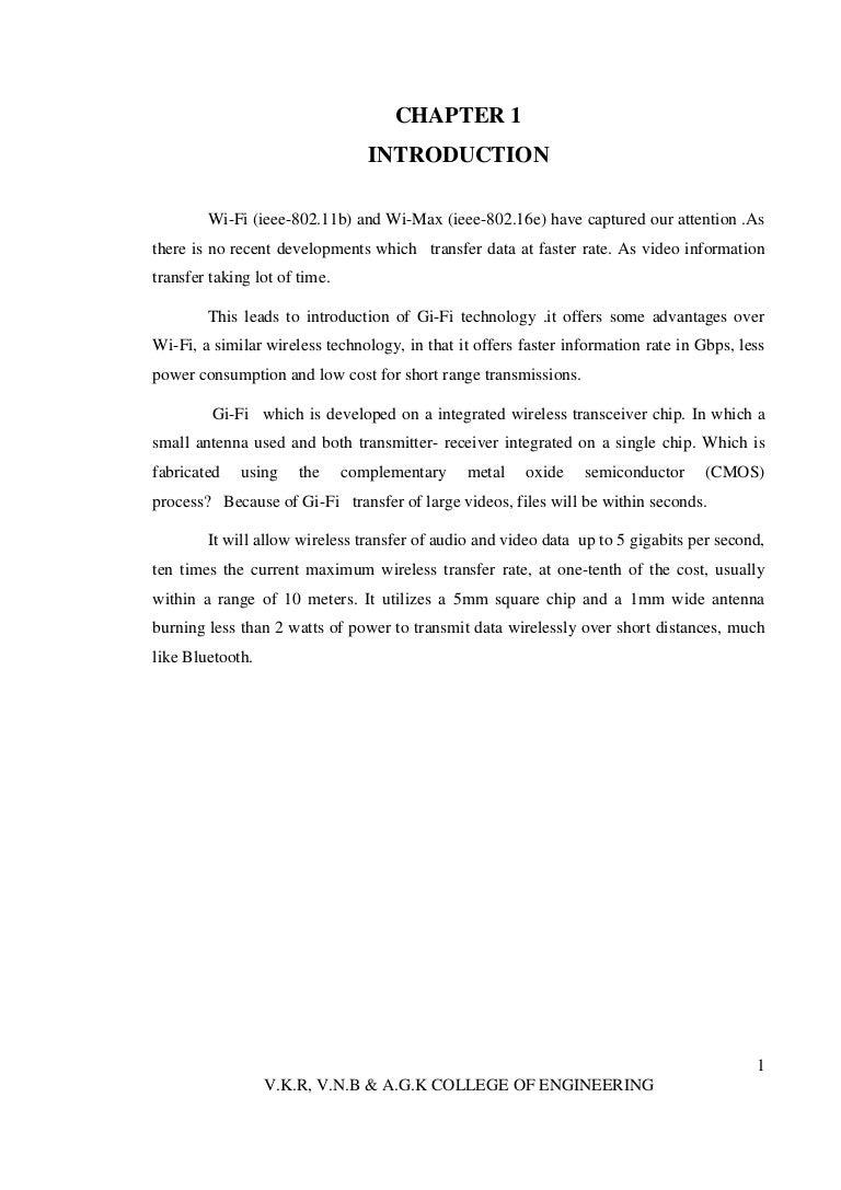 gifi wireless technology documentation