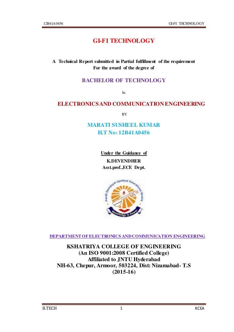 Gifi Technology Full Seminar Report Electronic Circuit Analysis Jntu Notes