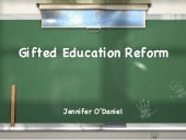 Gifted Education Reform
