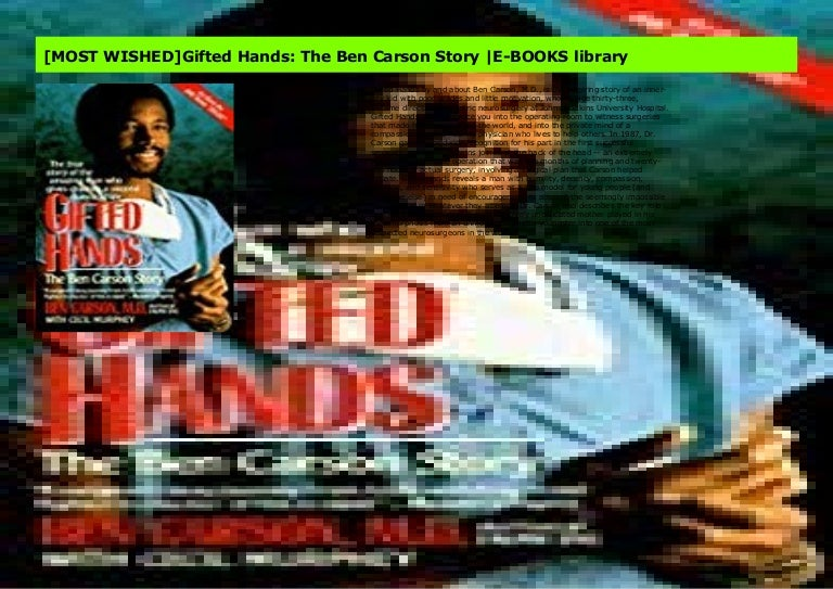 [MOST WISHED]Gifted Hands: The Ben Carson Story |E-BOOKS library