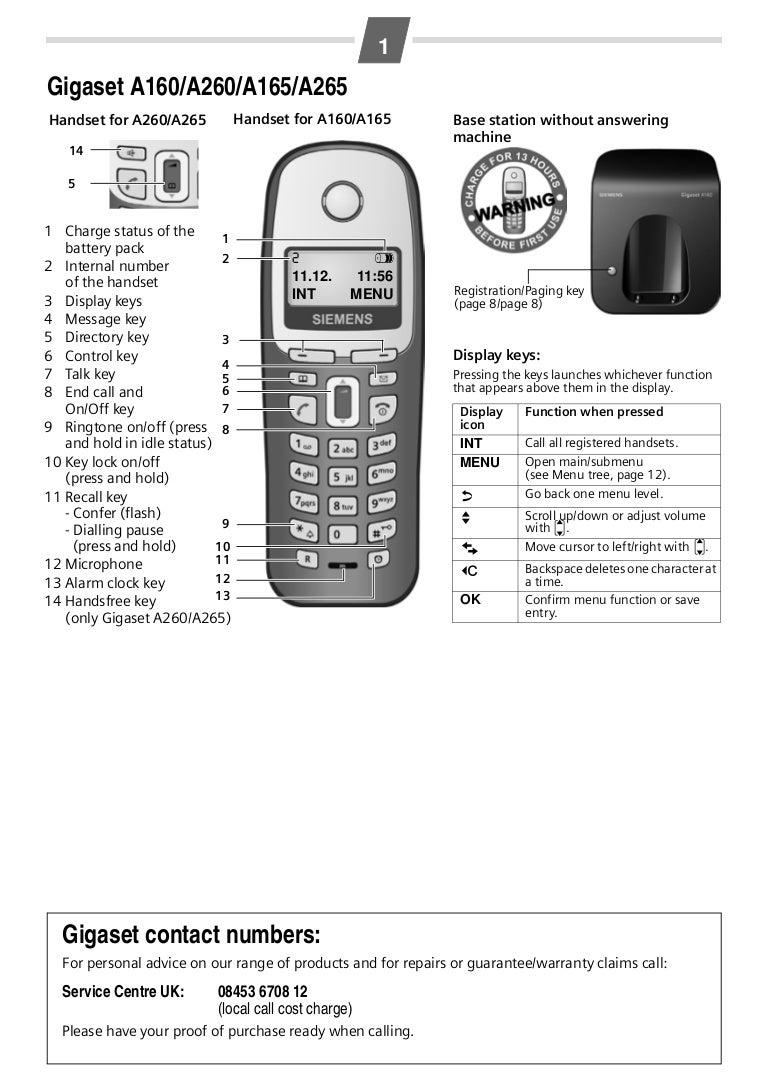 Gigaset A260 A265 User Manual
