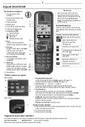 Gigaset A420A Digital Cordless Telephone User Guide