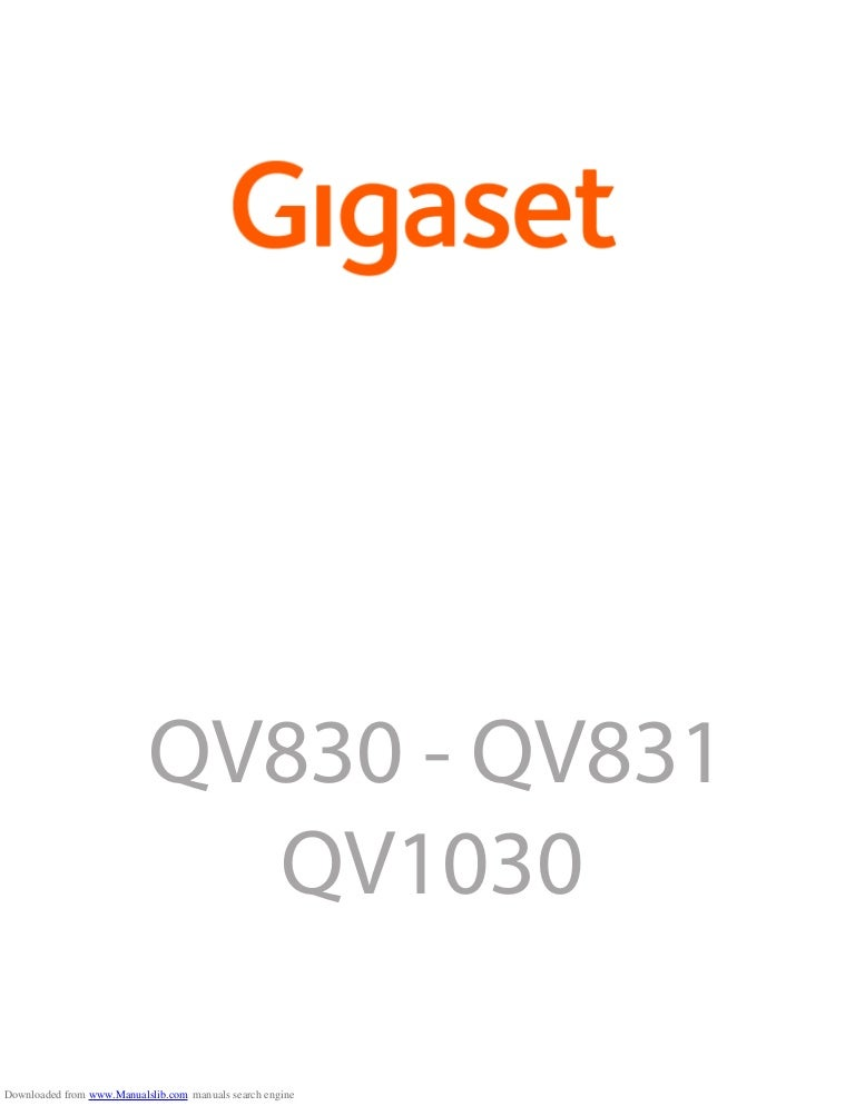 Gigaset QV830 Tablet User Guide