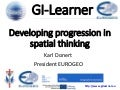 GI-Learner: developing progression in spatial thinking