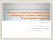 How Social Networks are Delivering on the Failed Promise of Knowledge Management