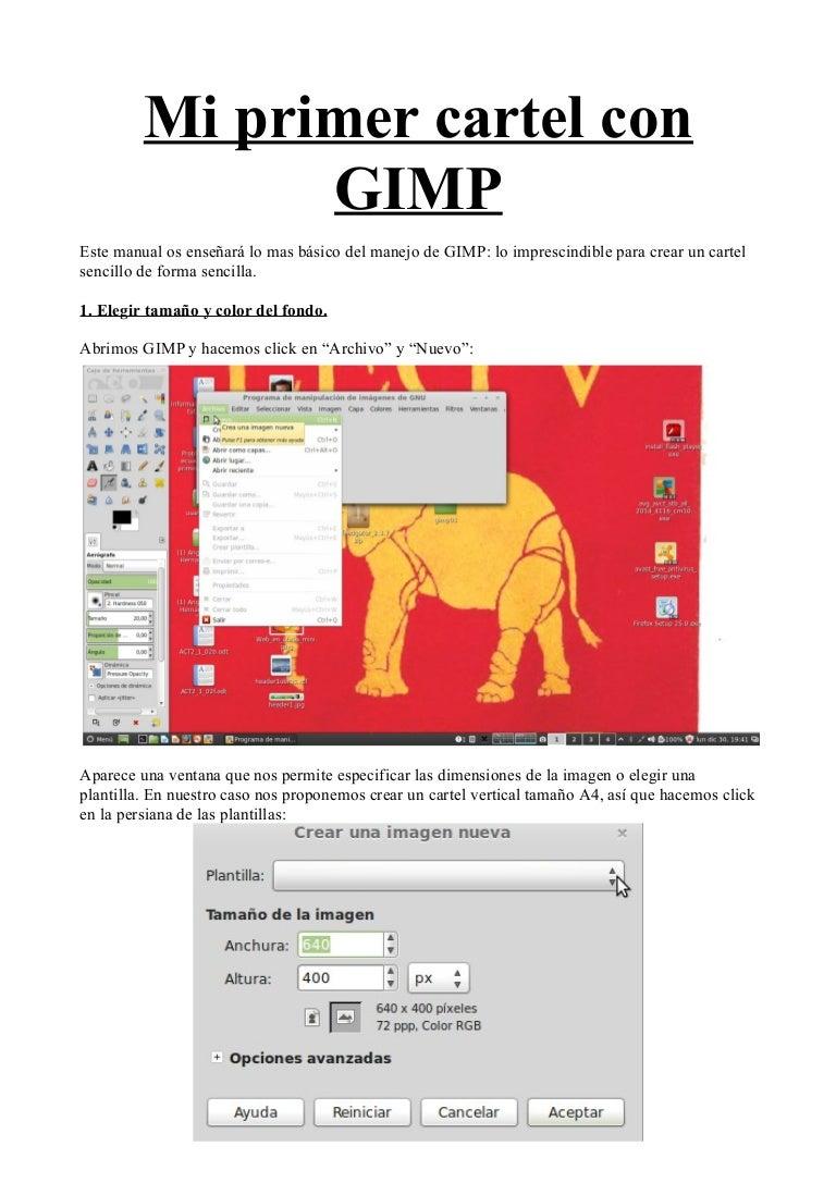 Mi primer cartel con GIMP