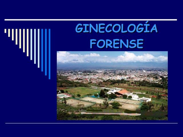 Ginecología Forense