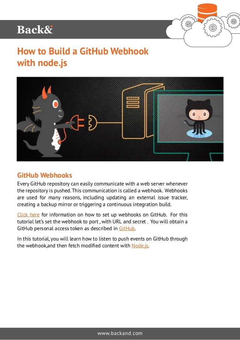 How to Build a GitHub Webhook with node js