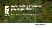 Giulio Quaggiotto: Accelerating Impact of Project Portfolios - Notes from the frontier of [ir]relevance