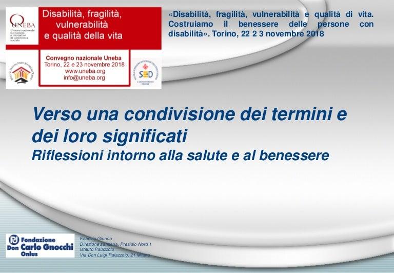 Fragilita E Vulnerabilita Fabrizio Giunco Don Gnocchi