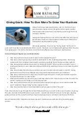Giving goals: How to grow your business through giving