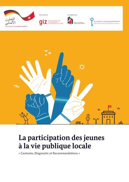 La participation des jeunes à la vie publique locale : Contexte, Diagnostic et Recommandations
