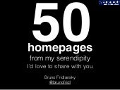 50 beautiful homepages from my serendipity
