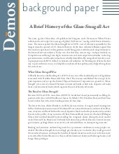 A Brief History of the Glass-Steagall Act