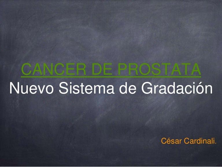 clasificación de la próstata isup