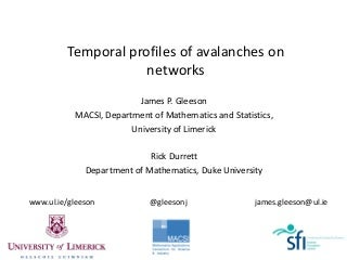 Temporal profiles of avalanches on networks