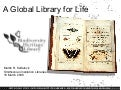 Global Library of Life: The Biodiversity Heritage Library