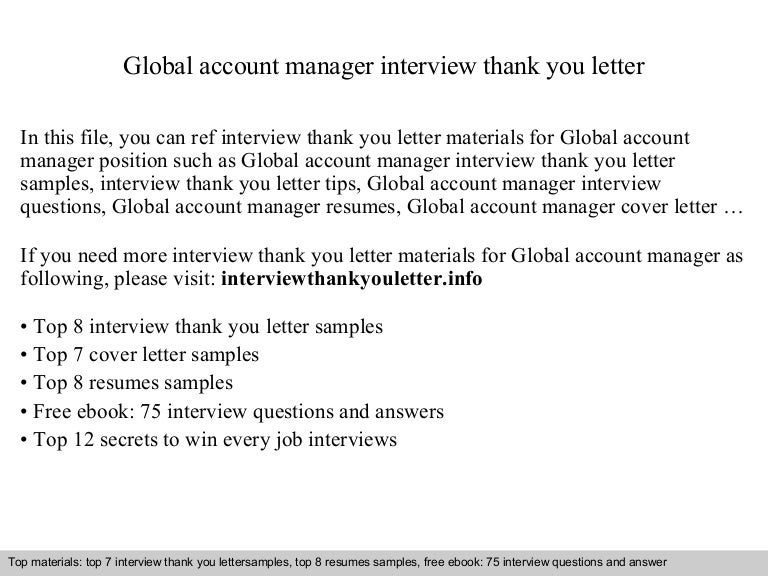 global account manager. Resume Example. Resume CV Cover Letter